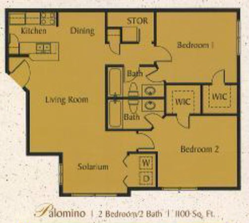 Sundance At Davie Condo 2 Bedroom 2 Bathroom Floor Plan Sundance At Davie C