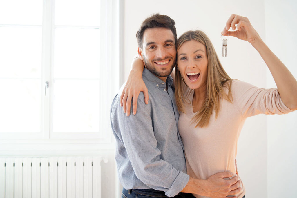 couple who just rented a condo near a college campus